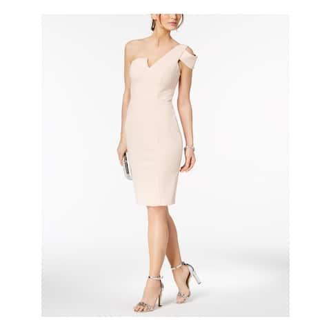 BETSY & ADAM Pink Short Sleeve Knee Length Sheath Dress Size 4