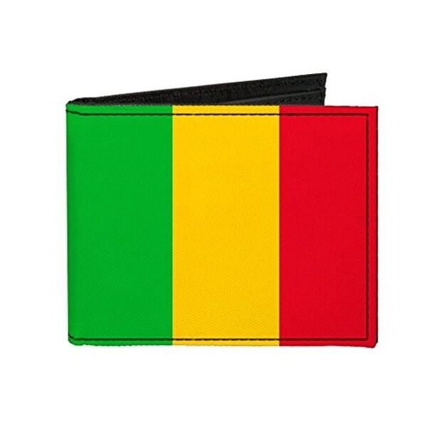 Buckle-Down Canvas Bi-fold Wallet - Mali Flag Accessory