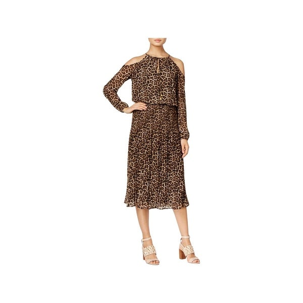 0d3a0f10fd Shop Michael Kors Womens Cocktail Dress Off-The-Shoulder Animal-Print -  Free Shipping Today - Overstock.com - 22514029