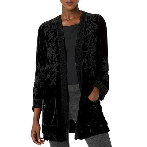 JWLA By Johnny Was Embroidered Smoking Jacket