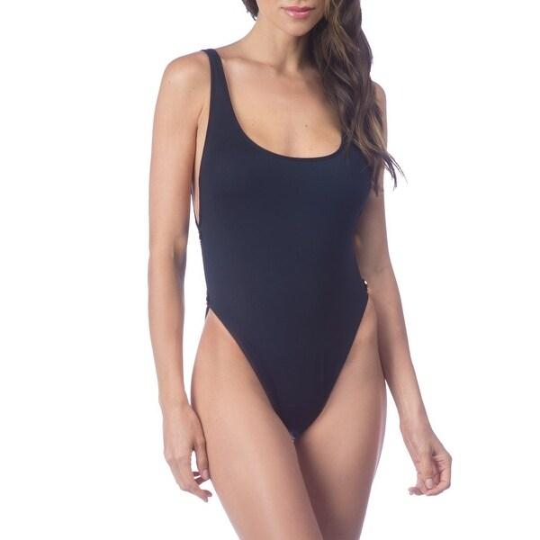e4b922001ffbd Shop La Blanca Black Women's Size 4 One-Piece Side-Button Open-Back ...