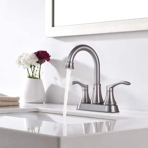 4 Inch Centerset Bath Lavatory Vanity Faucet with Pop Up Sink Drain