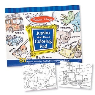 Jumbo Coloring Pad Blue 11 X 14