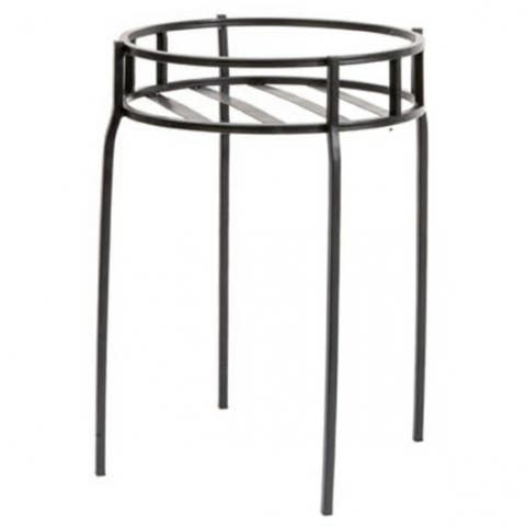 Panacea 86617 Contemporary Steel Plant Stand, Black, 15.5""
