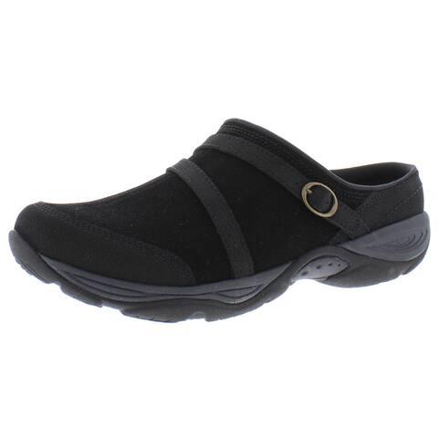 Easy Spirit Womens Equinox Loafer Slides Suede Slip On - Chocolate - 8 Medium (B,M)