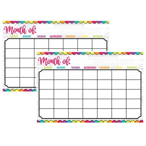 "Magnetic Write & Wipe DIY Magnetic Calendar, 12"" x 18"", Pack of 2 - One Size"