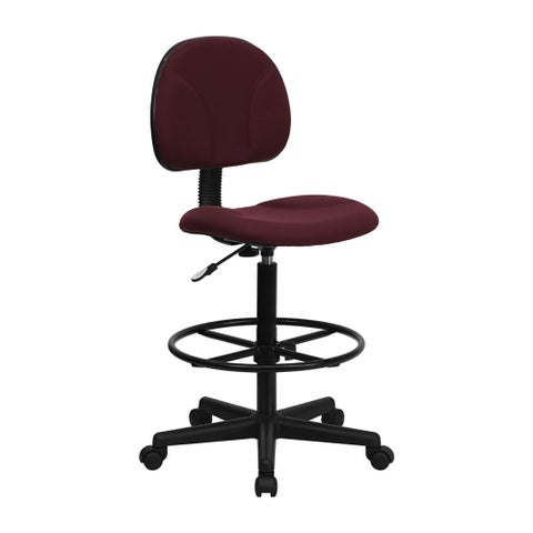 Offex Burgundy Fabric Ergonomic Drafting Chair [OF-BT-659-BY-GG]