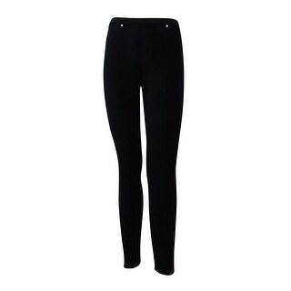 Style & Co. Women's Pull On Corduroy Leggings (PP, Deep Black) - Deep Black - pxs