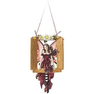 Design Toscano Window to Her World: Dangling Fairy Sculpture