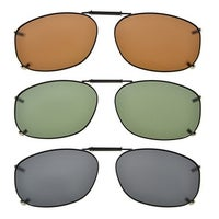 8353885eb6b Eyekepper Grey Brown G15 Lens 3-pack Clip-on Polarized Sunglasses ...
