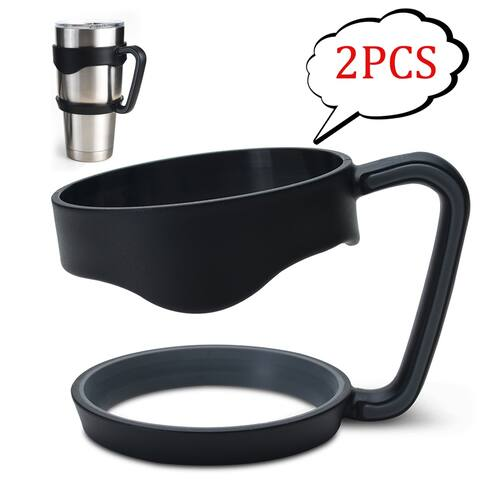 Image 2PCS 30 oz Tumbler Handles for Rtic YETI Rambler 30 oz (Handle Only) Black