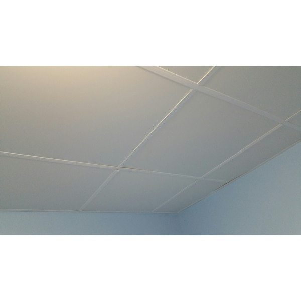 Ceilingmax White Surface Mount Ceiling Grid Kit 100 Sqft Free Shipping Today 11353571