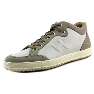 Hogan H168 Mid Cut H Rilievo Youth Leather Gray Fashion Sneakers