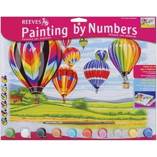 """Paint By Number Kit 12""""X16""""-Hot Air Balloons"""