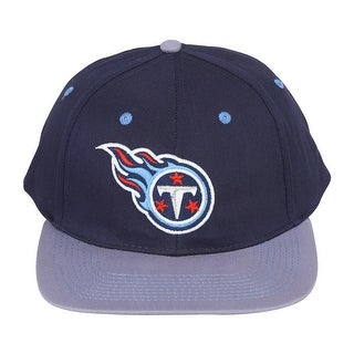 NFL Snapback Cotton Tennessee Titans Hat Cap - Navy/Baby Blue