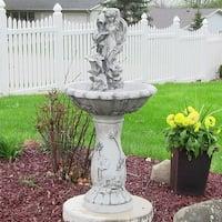 Sunnydaze Fairy Flower Solar-on-Demand Outdoor Water Fountain - 42-Inch