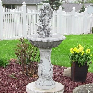 Sunnydaze Fairy Flower Solar on Demand Outdoor Water Fountain 42.5 Inches Tall