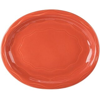 SYC 903034008 11.6 in. Food Service Platter, Red - Case of 12