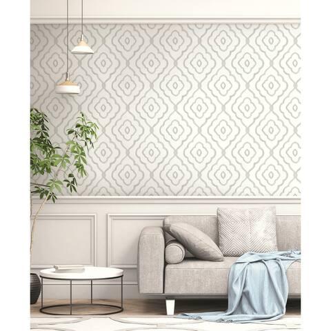 Seabrook Designs Seaside Ogee Unpasted Wallpaper