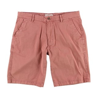 Weatherproof NEW Spice Red Mens Size 38 Geometric Micro Circle Shorts
