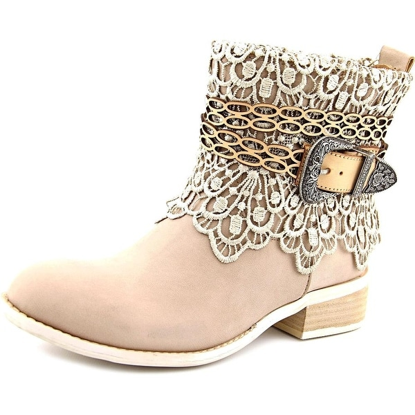 Very Volatile Korba Women Round Toe Synthetic Gray Ankle Boot