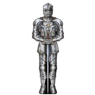 Pack of 12 Jumbo Life-Size Medieval Jointed Suit of Armor Party Decorations 6'