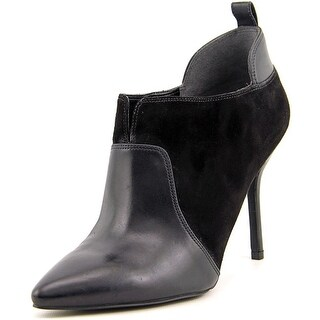 Enzo Angiolini Prixia Women Pointed Toe Suede Black Bootie