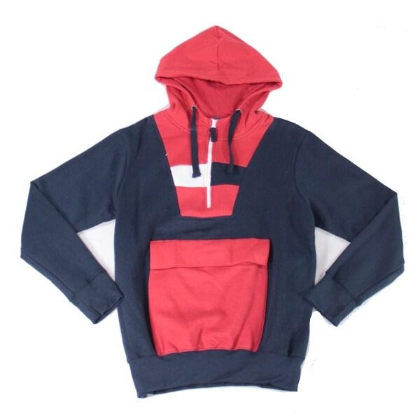 Black Jack Mens Sweater Blue Size Large L Colorblock Pocket Hooded. Opens flyout.