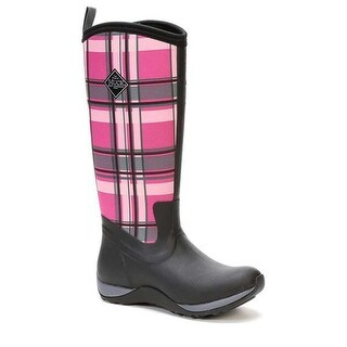 Muck Boot Women's Arctic Adventure Black/Pink Plaid Size 11 Winter Boots