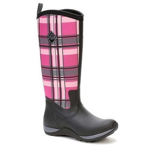Muck Boot Women's Arctic Adventure Black/Pink Plaid Size 6 Winter Boots
