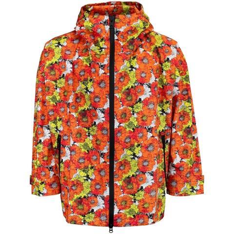 ASICS Flower Hoodie Mens Casual Hoodie Pullover - Orange