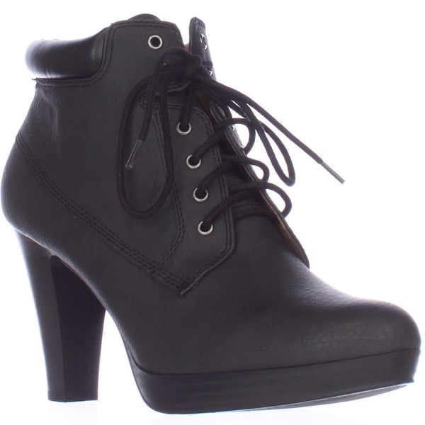 AL35 Garnet Lace Up Ankle Boots, Black/Black