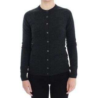 Dolce & Gabbana Dolce & Gabbana Gray Wool Button Cardigan Sweater