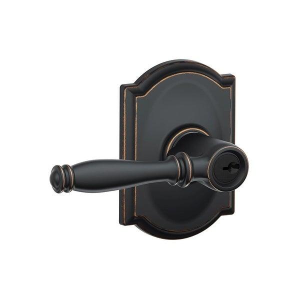 Schlage F51 BIR CAM Birmingham Single Cylinder Keyed Entry Door Lever Set  With Decorative
