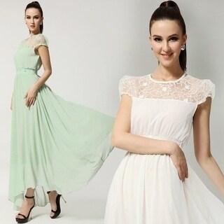 Pure Sweet Slim Small Fresh Lace Small Short-Sleeve Slim Waist Ultra Long  Plus Size Clothing