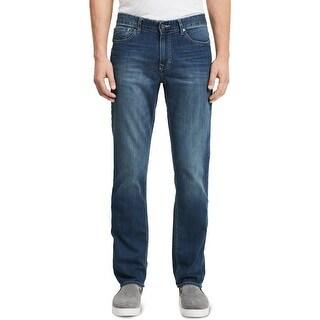Shop Calvin Klein Blue Mens Size 40x30 Slim Straight