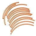 Copper Plated Curved Noodle Tube Beads 2mm x 38mm (12) - Thumbnail 0