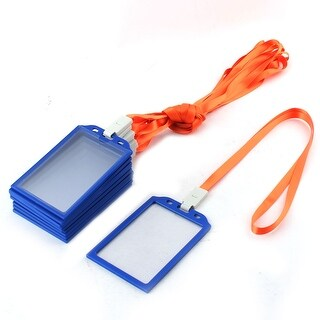 School Office Plastic Frame Vertical ID Name Badge Card Holders Clear 10pcs