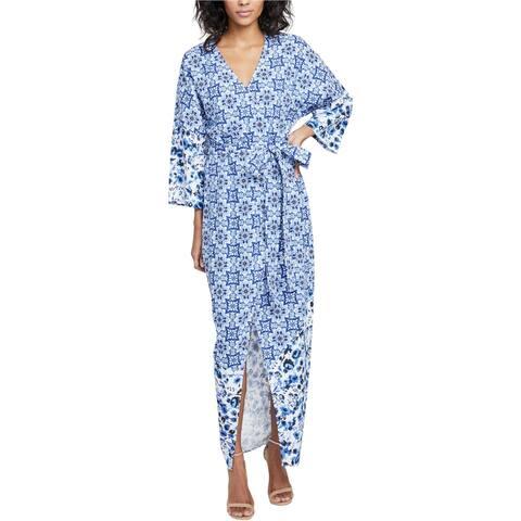 Rachel Roy Womens Kimono Jacket Overcoat Dress, Blue, XX-Large
