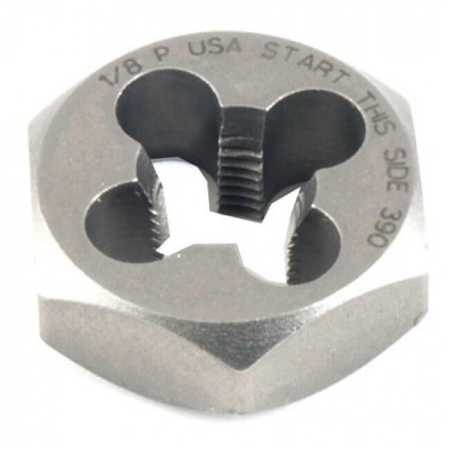 Irwin 9502ZR Hanson High Carbon Steel Hexagon Taper Pipe Die, 1/8-27 NPT