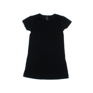 Zara Kids Girls Ruffle Trim Casual Dress - 11/12