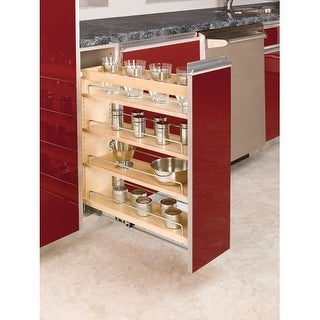 "Rev-A-Shelf 448-BC19-8C 448 Series 8"" Wide Pull Out Base Organizer for 9"" Full Height Base Cabinet"