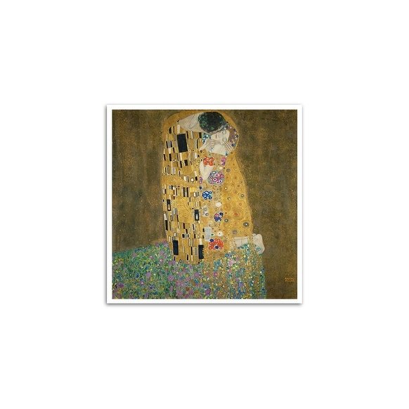 The Kiss - Gustav Klimt - Most Expensive Paintings - 24x24 Matte Poster Print