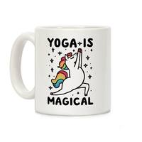 Yoga Is Magical White 11 Ounce Ceramic Coffee Mug by LookHUMAN