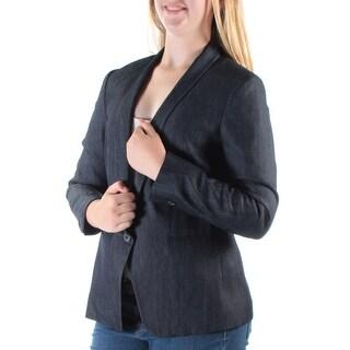 ANNE KLEIN $129 Womens 1347 Navy Blazer Wear To Work Jacket 10 B+B