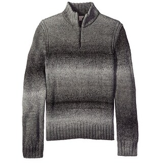 Calvin Klein NEW Gray Men Medium M Space Dye Quarter Zip Stripe Sweater