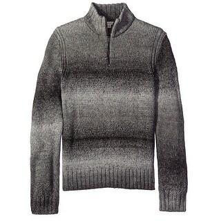 Calvin Klein NEW Gray Mens Size Medium M Quarter Zip Stripe Sweater