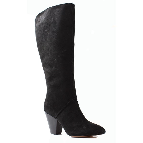 Nine West NEW Black Women's Shoes Size 10M Dude Tall Suede Boot