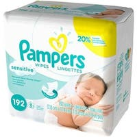 CPC PAMPER Pampers Sensitive Baby Wipes Refills, 4 Case of 192