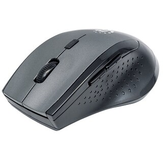 Manhattan Curve Wireless Optical Mouse - Black/Grey